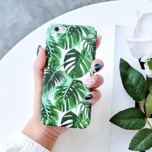 Accessories - Green Palm Leaf iPhone Cell Phone Case